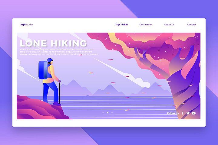 Hiker - Banner & Landing Page