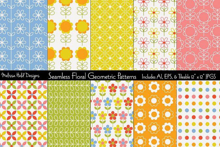 Seamless Floral Geometric Patterns