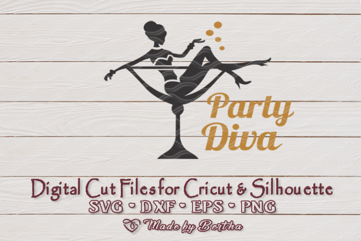Party Diva - SVG cut file