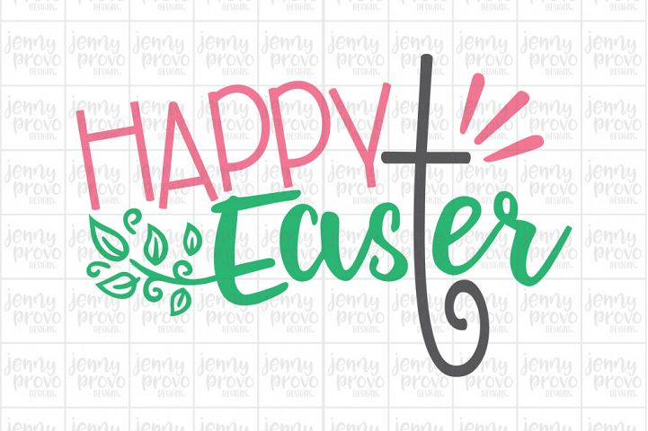 Happy Easter - Cutting File in SVG, EPS, PNG and JPEG for Cricut & Silhouette