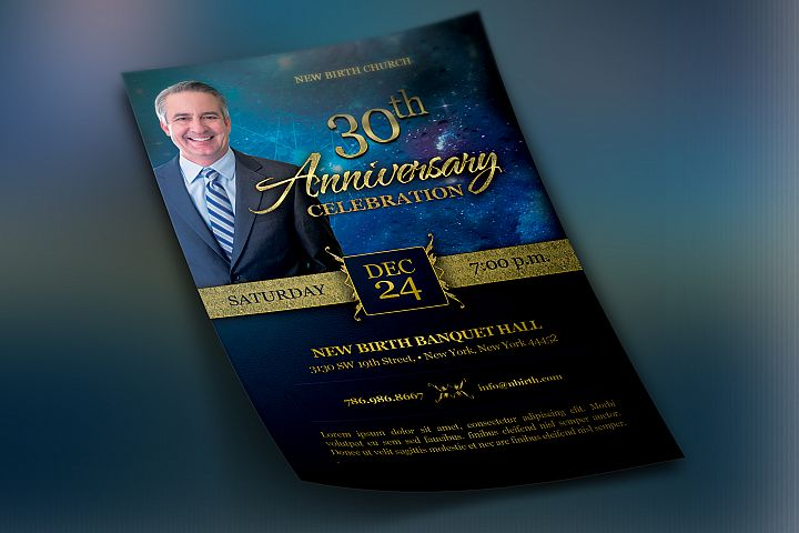 Church Anniversary Template