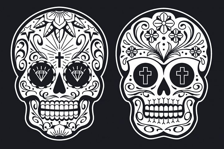 Vector Mexican Sugar Skulls