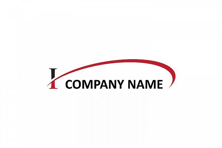i letter swoosh logo