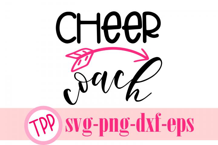 Cheer Coach svg, cheer svg, cheerleader design