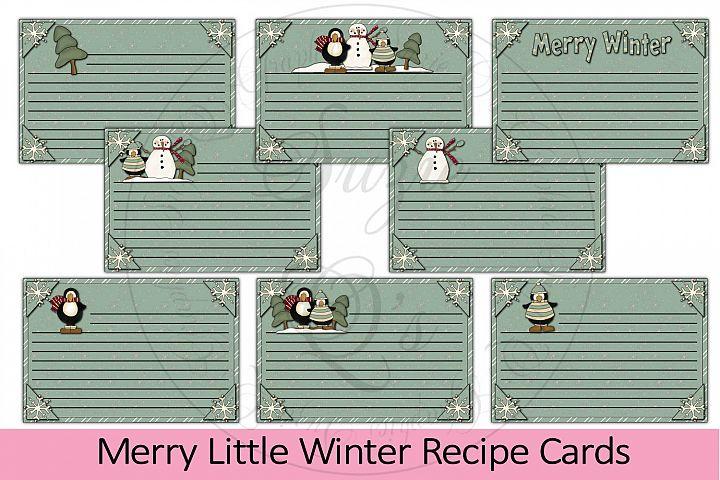 Merry Little Winter Recipe Cards