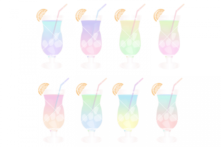 Tropical Cocktail Illustration Clipart