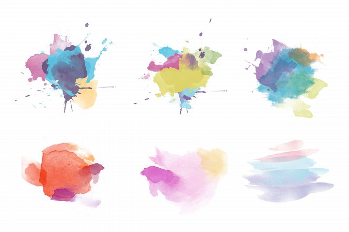 Hand painted watercolor template vector background