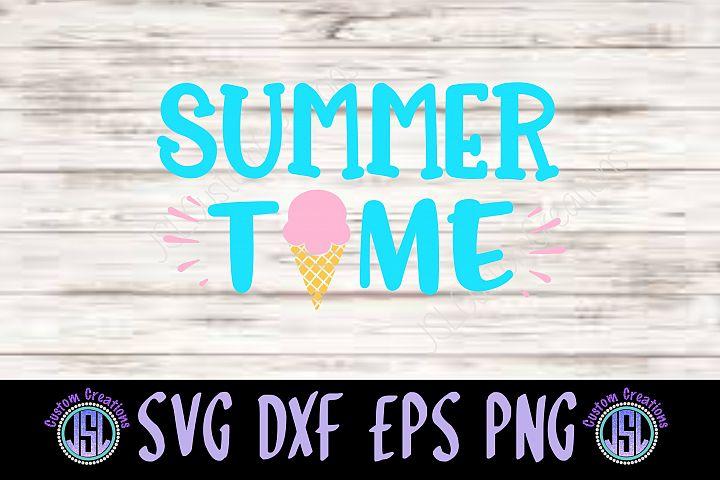 Summer Time  Ice Cream   SVG EPS DXF PNG Digital Download