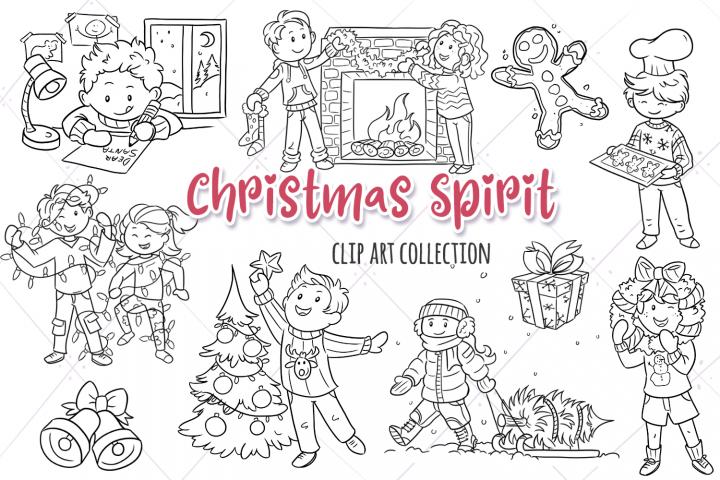 Christmas Spirit Digital Stamps