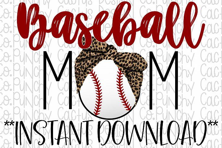 Baseball Mom Sublimation Download, Baseball