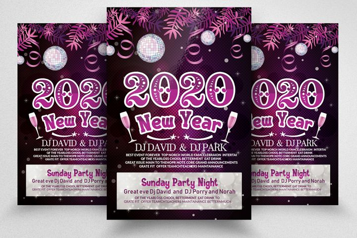 Happy New Year Party Flyer/Poster example image 1