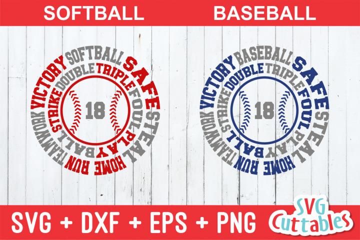 Baseball / Softball Round Subway Art cut file