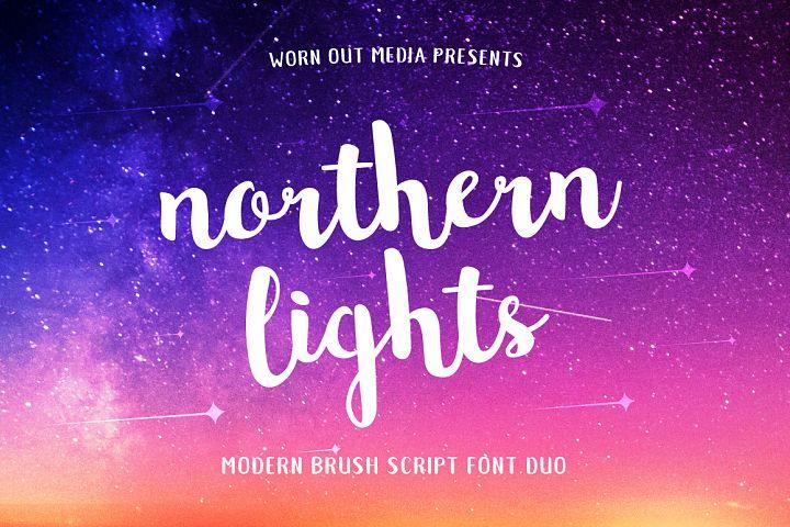 Northern Lights Script Font Duo