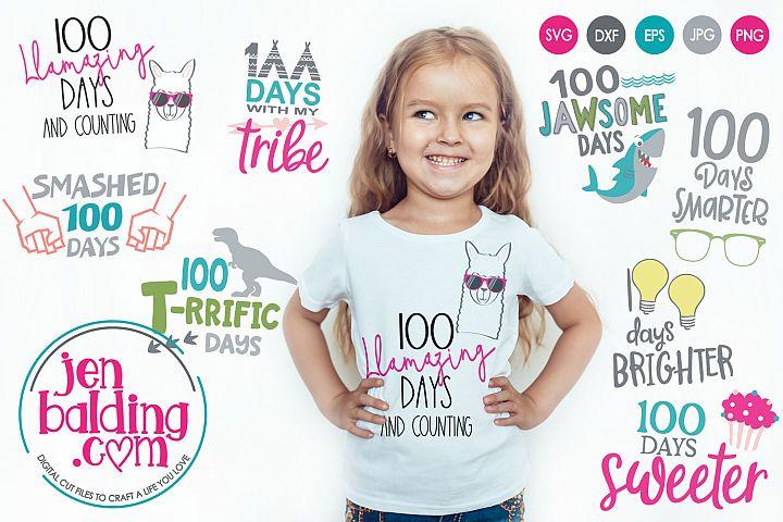 100 Days SVG Bundle