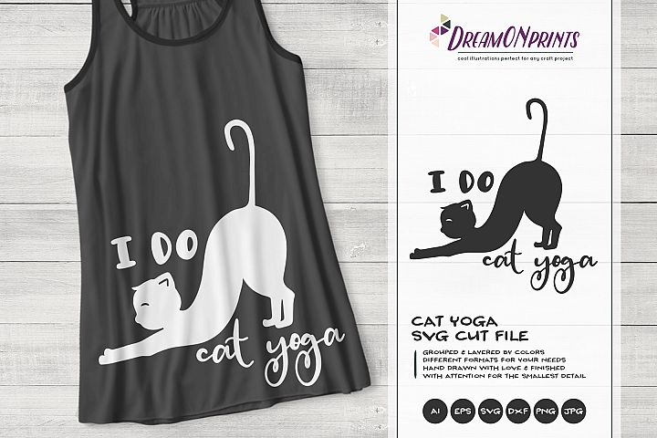 Cat Yoga SVG | Yoga Shirt Design
