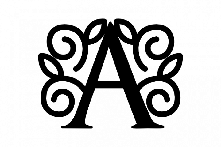 Split Letter A-Z SVG DXF EPS PNG File