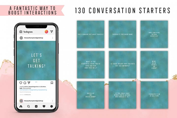 130 Social Media Conversation Starters Version 18