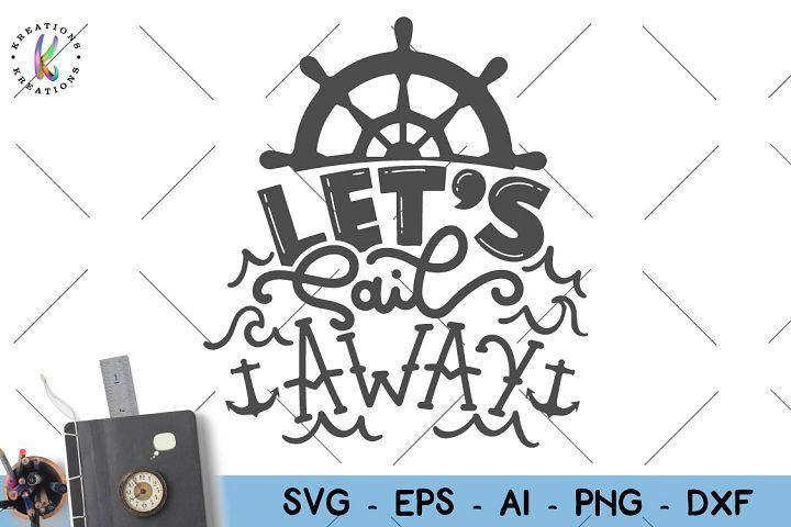 Cruise shipsLets sail away SVG