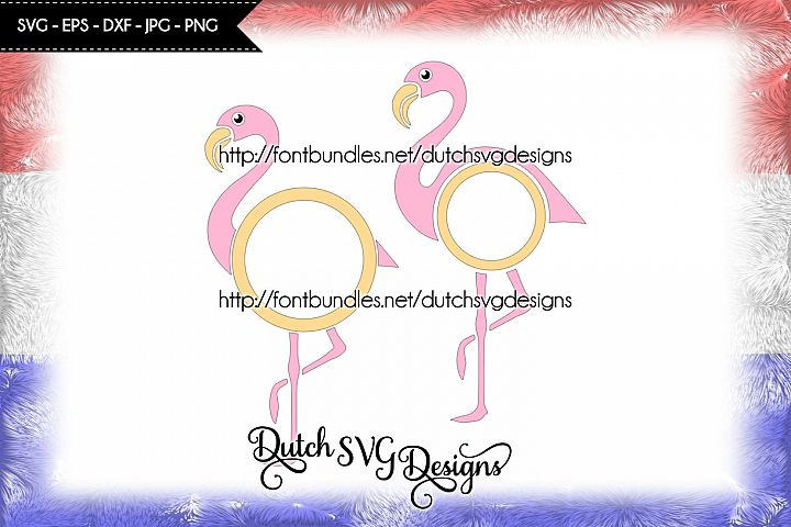 2 Flamingo monogram cutting files, in Jpg Png SVG EPS DXF, for Cricut & Silhouette, flamingo svg, flamingo cut file, flamenco, monogram svg