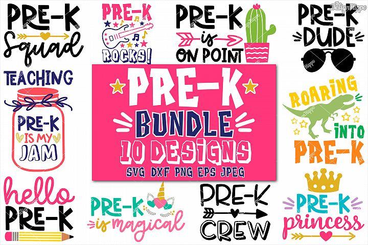 Pre-K School Bundle of 10 Designs SVG DXF PNG Cutting Files