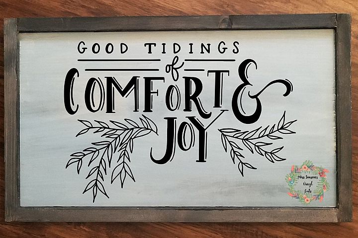 Good Tidings of Comfort and Joy Svg Dxf, Eps, Png