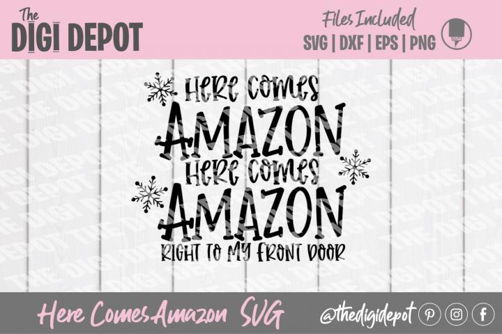 Here Comes Amazon SVG, Christmas SVG, Christmas Tree SVG