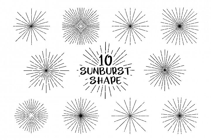 Sunburst Shape for Procreate
