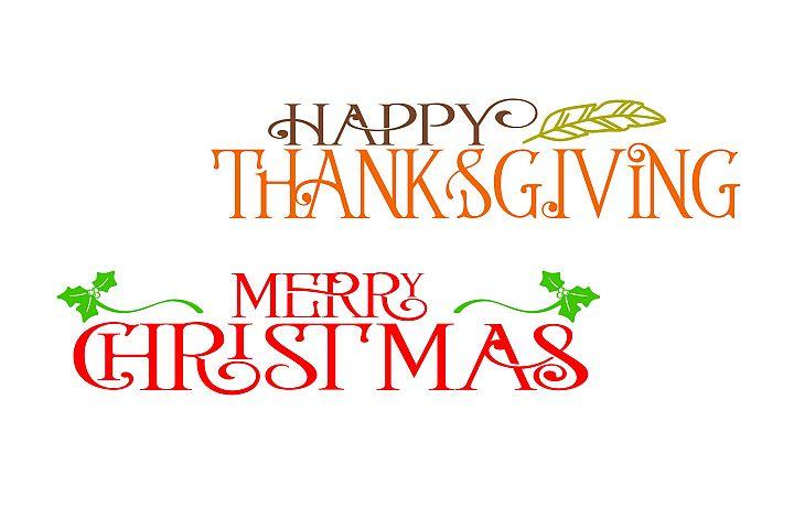 Thanksgiving & Christmas SVG Bundle- 2 Files example 2