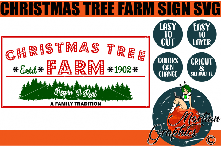 Christmas Tree Farm Sign - A Christmas SVG