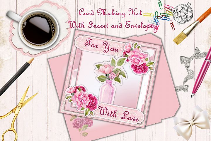 Card Making Kit Birthday, Mothers Day, With Love PNG JPEG