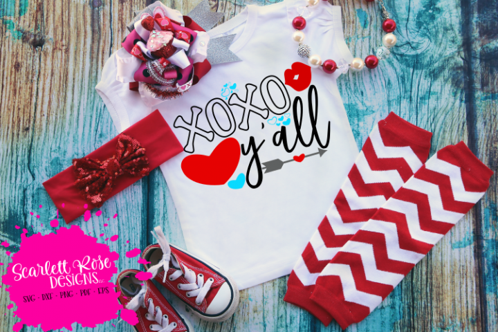 XOXO Yall - Valentines Day SVG