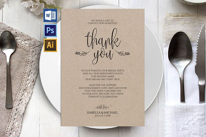 Thanks wedding sign, TOS_47