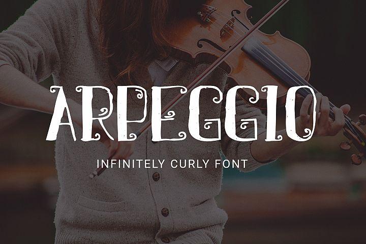Arpeggio Curly Font