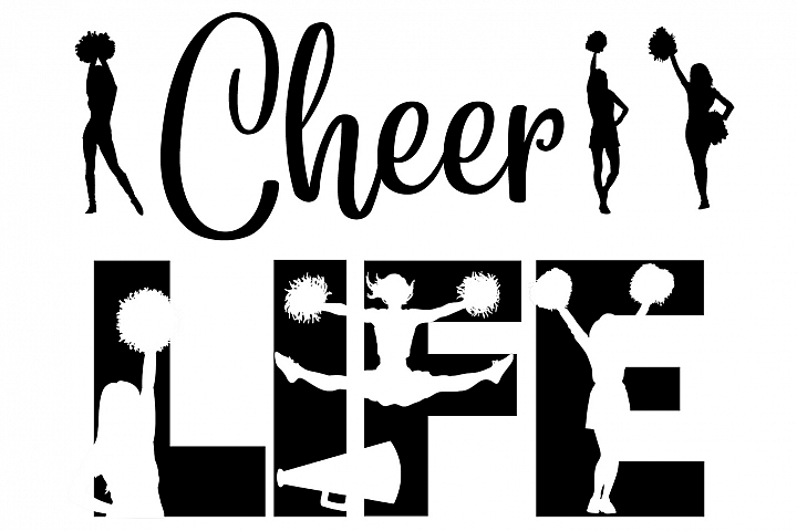Cheer Cheerleader Life SVG Cutting File for the Cricut