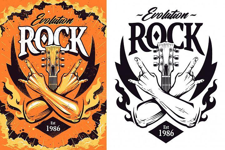 Rock Print Design | Vector Art