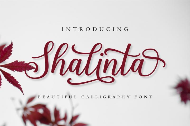Shalinta - Calligraphy Font
