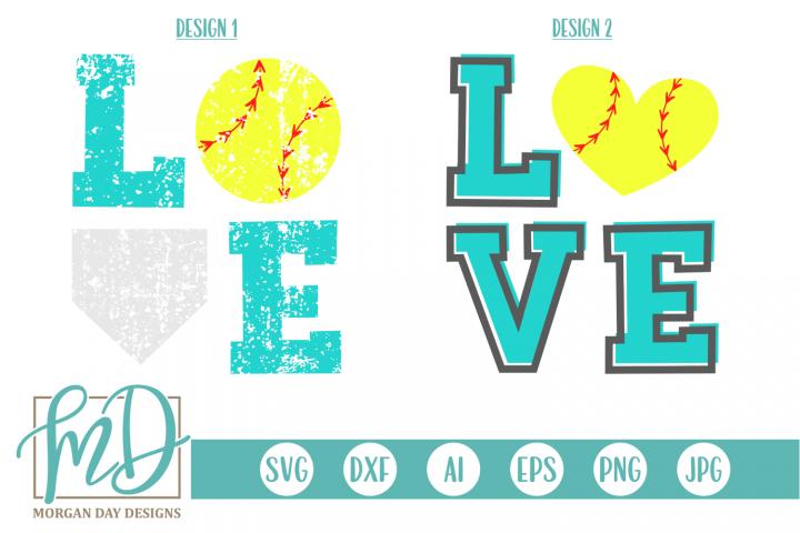 Softball Love - Love Softball SVG, DXF, AI, EPS, PNG, JPEG