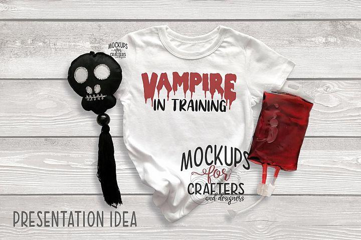 Childs Unisex Tshirt MOCK-UP, Halloween theme