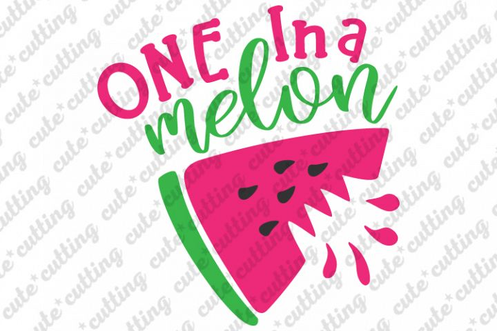 One in a melon svg, Watermelon svg , Summer svg, dxf, png