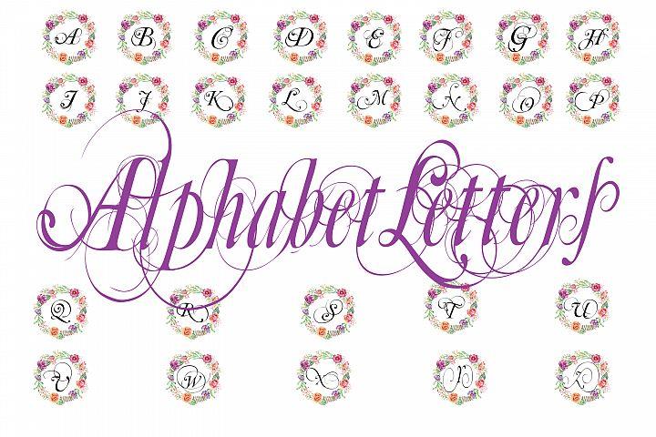 Alphabet Wall Art - Clip art - PNG , JPG, PDF