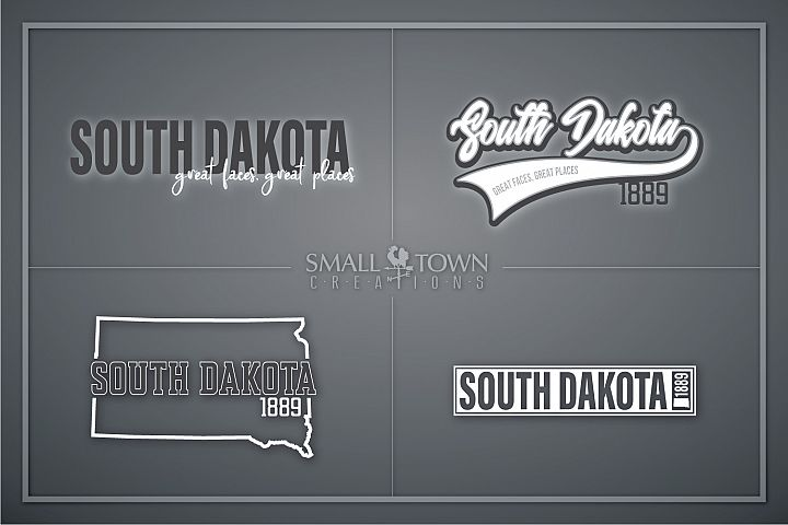 South Dakota, Great faces Great Places, PRINT, CUT & DESIGN