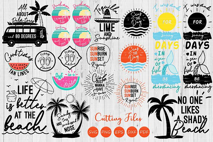 Summer bundle| SVG Cut file | Summer | Cricut |