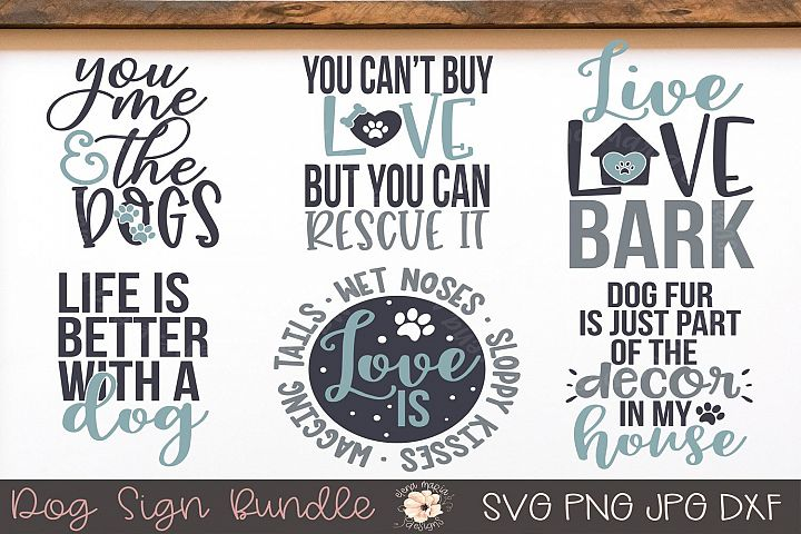 Dog Sign Svg Bundle Pet Svg