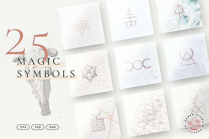 Minimalistic Magic Symbols - Occult Shapes