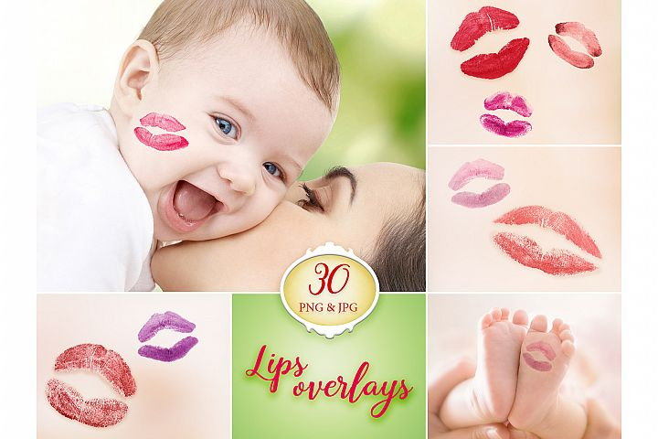 30 Lips Photo Overlays