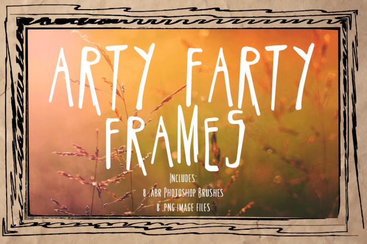 Doodle Frames & Photoshop Brushes - Arty Farty Frames