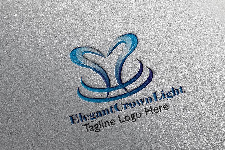 Elegant Crown Light Logo