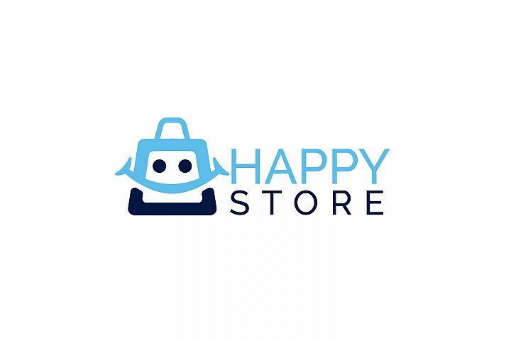 Happy Store Logo Design.