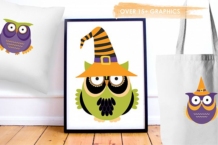 Halloween Owls graphics and illustrations - Free Design of The Week Design 4