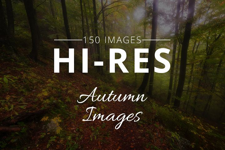 Big Autumn Photo Bundle 2018 - 150 Stock Images